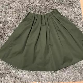 トゥエルブアジェンダ(12Twelve Agenda)のカーキ色膝丈スカート(ひざ丈スカート)