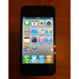 アイフォーン(iPhone)のiPhone 4 スペースグレー 32GB Softbank (スマートフォン本体)