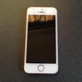アイフォーン(iPhone)の即購入OK 美品 SIMフリー iPhoneSE 64GB rosegold(スマートフォン本体)