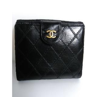 シャネル(CHANEL)のシャネル ビコローレ ココマーク マトラッセ  2つ折財布(財布)