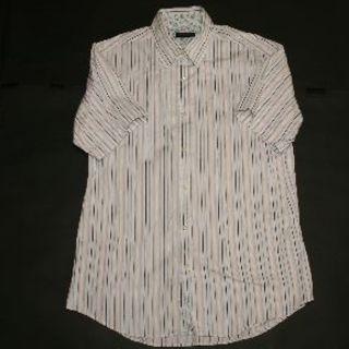 メンズビギ(MEN'S BIGI)の★MEN'S BIGI★メンズビギ 半袖シャツ サイズ3 ホワイト(シャツ)