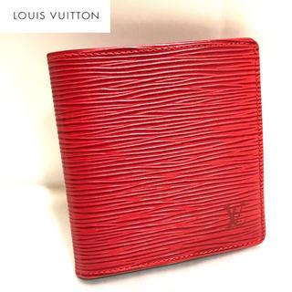 ルイヴィトン(LOUIS VUITTON)の美品✨エピ ポルトビエ6カルト 折財布(財布)