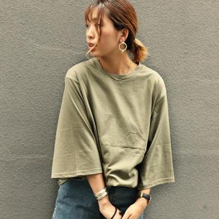 TODAYFUL - 新品タグ付き via j無地7分丈Tシャツ キャナルジーン