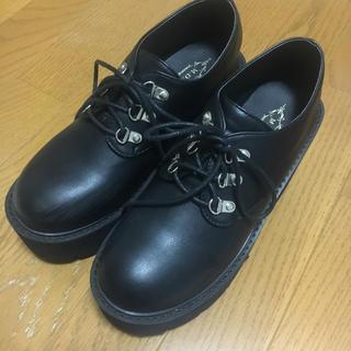エーディージー(A.D.G)のa.d.g. エルロン 厚底 ヒール ブーツ ブラック(ブーツ)