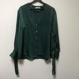 Ungrid - Ungrid サテンシャツ グリーン