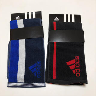 アディダス(adidas)の送無 アディダス フェイスタオル ロングタオル スポーツタオル 2枚セット(その他)