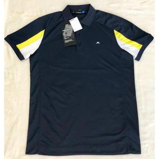 ジェイリンドバーグ(J.LINDEBERG)の新品未使用JリンドバーグJ.LINDEBERG  ネイビーポロシャツ  サイズS(ウエア)