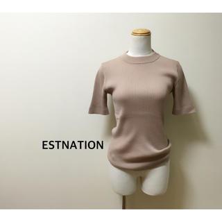 エストネーション(ESTNATION)のESTNATION 5分袖 プルオーバー(カットソー(半袖/袖なし))