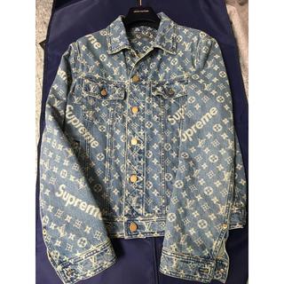 国内正規品新品ルイヴィトン シュプリーム デニムジャケット 46 Gジャン 本物