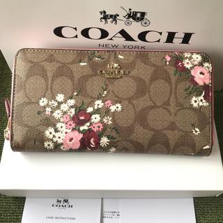 コーチ(COACH)のコーチ 長財布 vcoach  ラウンドファスナー 新作 花柄(財布)