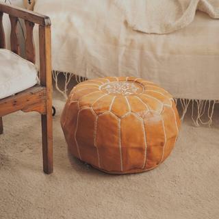 モロッコ製 山羊革 プフ🌼(オットマン)