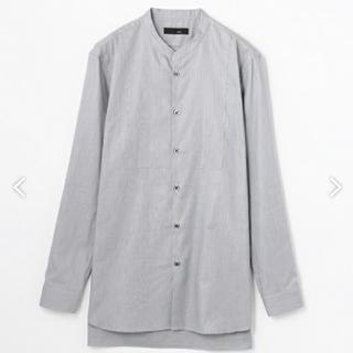 トゥモローランド(TOMORROWLAND)の最終値下げ❗️新品未使用❗KNOTTヘアラインストライプ ノーカラーロングシャツ(シャツ)