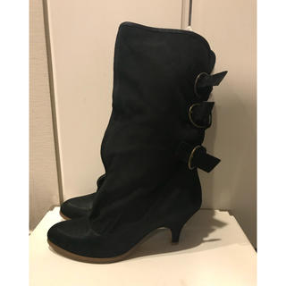 オゥバニスター(AU BANNISTER)のオゥバニスター スエード ブーツ 24.5(ブーツ)
