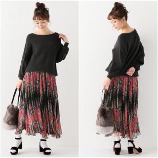 2017AW Mes Demoiselles メドモアアゼル フラワー スカート(ロングスカート)