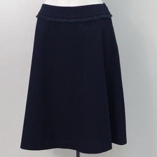 ギャラリービスコンティ(GALLERY VISCONTI)の新品 ネイビー スカート 綿素材 サイズ3 紺色(ひざ丈スカート)