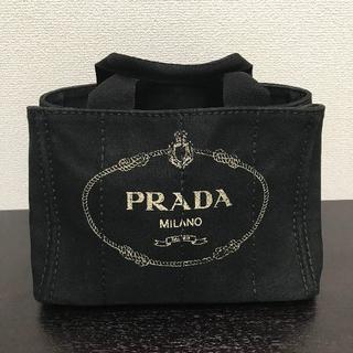 プラダ(PRADA)のプラダ カナパ トートバッグ 黒 Sサイズ キャンバス(トートバッグ)