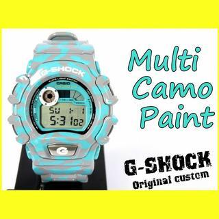 ジーショック(G-SHOCK)の★F6-2500【Gショック カスタム】DW-004 カモフラ迷彩 1点物限定(腕時計(デジタル))