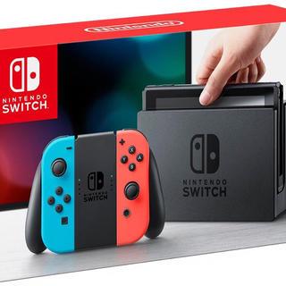 ニンテンドースイッチ(Nintendo Switch)の新品☆ Nintendo Switch 本体 ネオンブルー/ネオンレッド(家庭用ゲーム本体)