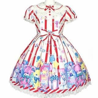 アンジェリックプリティー(Angelic Pretty)の❤️送料込み‼️❤️【新品】Toy Doll Boxワンピース(アイボリー)(ひざ丈ワンピース)