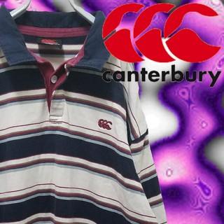 カンタベリー(CANTERBURY)のCANTERBURY ビンテージ ラガーシャツ ストライプ 古着 ポロシャツ L(ポロシャツ)