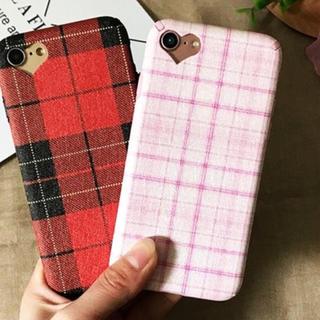 Iha様 専用 【赤いチェック】iPhone8用(iPhoneケース)