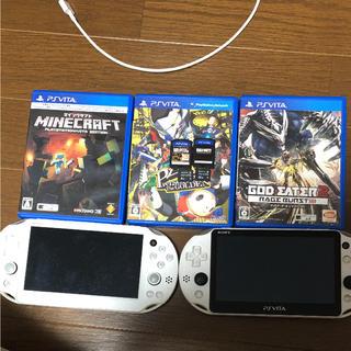 プレイステーションヴィータ(PlayStation Vita)のPlayStationVita新型2台&ソフト(携帯用ゲーム本体)