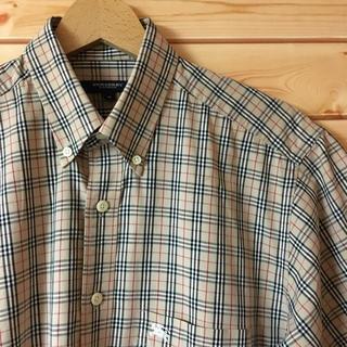 バーバリー(BURBERRY)の美品【 BURBERRY LONDON 】半袖 ノバチェックシャツ(シャツ)