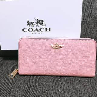 コーチ(COACH)のCOACH アウトレット正規品 長財布 薄ピンク(財布)