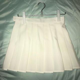 アメリカンアパレル(American Apparel)のアメアパ 白 テニススカート(ミニスカート)