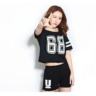 ★☆68レディース【 ブラック ・ Mサイズ 】セットアップ ルームウェア☆★(ルームウェア)