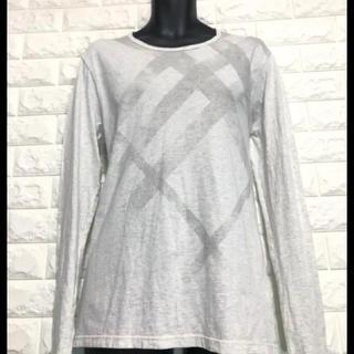 バーバリー(BURBERRY)の日本製 BURBERRY チェックモチーフプリントカットソー(Tシャツ/カットソー(七分/長袖))