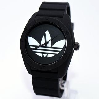 アディダス(adidas)のアディダス 腕時計 メンズ サンティアゴ シリコンベルト ブランド 黒(腕時計(アナログ))