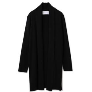 エストネーション(ESTNATION)のエストネーション ロングカーディガン ブラック 黒 メンズ Sサイズ 美品(カーディガン)