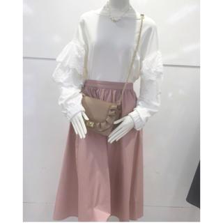 ジーユー(GU)の新品 タグ付き 大人気 ☆ GU ギャザーフレアスカート(ひざ丈スカート)
