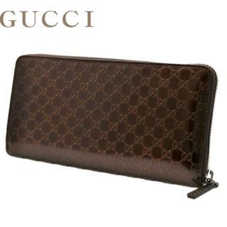 グッチ(Gucci)のグッチ GUCCI メンズ 307987 ラウンドファスナー長財布 チョコレート(長財布)