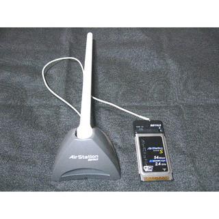 バッファロー(Buffalo)のAirStation 無線LANカードアンテナセット 動作確認済み(PC周辺機器)