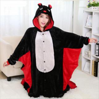 着ぐるみ 大人用 コウモリ パジャマ アニマル フリース 冬 プレゼント 動物 (ルームウェア)