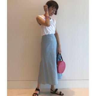 デミルクスビームス(Demi-Luxe BEAMS)のリネンスカート(ひざ丈スカート)