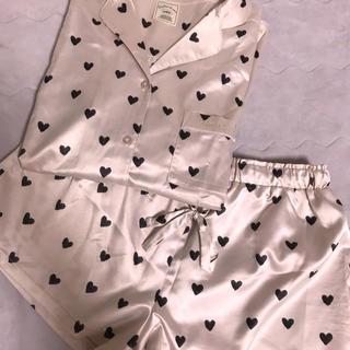 ジェラートピケ(gelato pique)のジェラートピケ ハートサテンシャツ&パンツセット(ルームウェア)