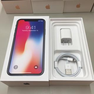 アイフォーン(iPhone)の[純正品]アップル iPhoneX 充電器 充電ケーブルと電源アダプタ 正規品(バッテリー/充電器)