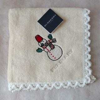 バーバリー(BURBERRY)の新品BURBERRY刺繍入りタオルハンカチ(ハンカチ)