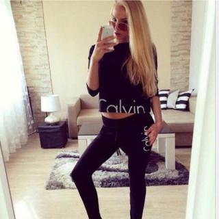 カルバンクライン(Calvin Klein)の❤️大人気!女子力高い!カルバンクライン長袖セットアップ(ルームウェア)