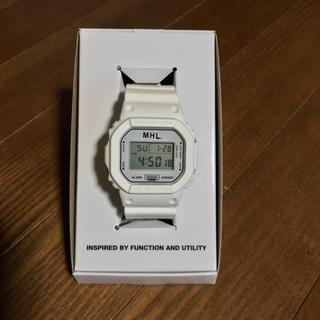 マーガレットハウエル(MARGARET HOWELL)の 【9/9出品削除します】MHL.×G-SHOCK 腕時計 白(腕時計(デジタル))