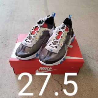 ナイキ(NIKE)の【27.5】Nike React Elementw ブルー(スニーカー)