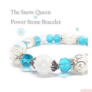 天然石 クラック水晶 Snow Queen 雪の女王 パ(ブレスレット)