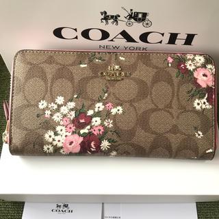コーチ(COACH)のコーチ 長財布 coach  ラウンドファスナー 新作 花柄(財布)