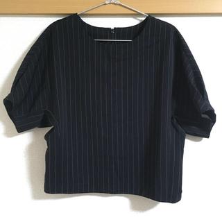ジーユー(GU)のGU ストライプボクシープルオーバー(シャツ/ブラウス(半袖/袖なし))