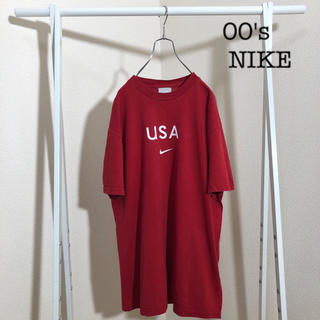 NIKE - 古着 00's NIKE ナイキ ワンポイント スウォッシュ Tシャツ