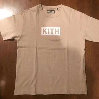 kith box tee sand Sz S