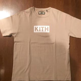 kith box tee sand Sz S(Tシャツ/カットソー(半袖/袖なし))